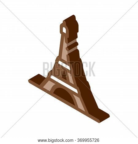 Eiffel Tower Icon Vector. Isometric Eiffel Tower Sign. Color Isolated Symbol Illustration