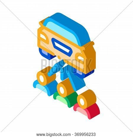 Inspection By People Icon Vector. Isometric Inspection By People Sign. Color Isolated Symbol Illustr