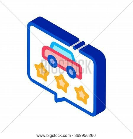 Car Quality Assessment Icon Vector. Isometric Car Quality Assessment Sign. Color Isolated Symbol Ill