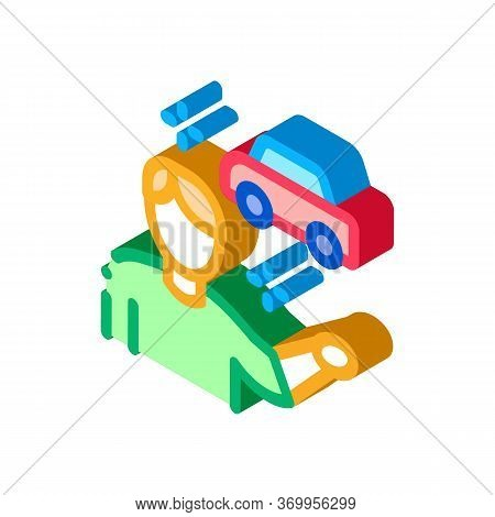 Machine Seller Icon Vector. Isometric Machine Seller Sign. Color Isolated Symbol Illustration