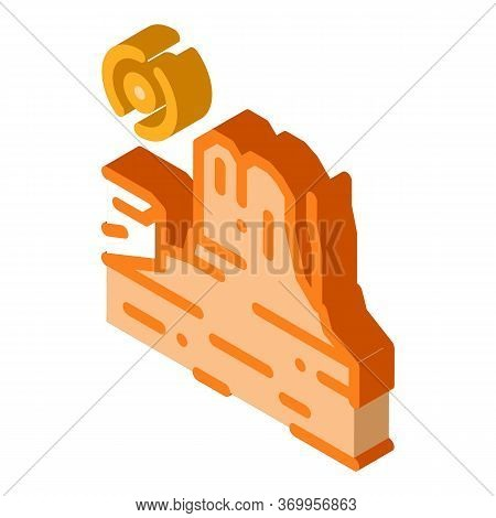 Rocky Gorge Icon Vector. Isometric Rocky Gorge Sign. Color Isolated Symbol Illustration