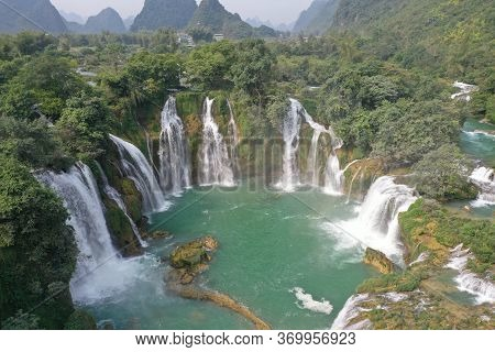 Ban Gioc Waterfall In The North Of Vietnam
