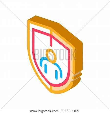Immunity Protection Icon Vector. Isometric Immunity Protection Sign. Color Isolated Symbol Illustrat
