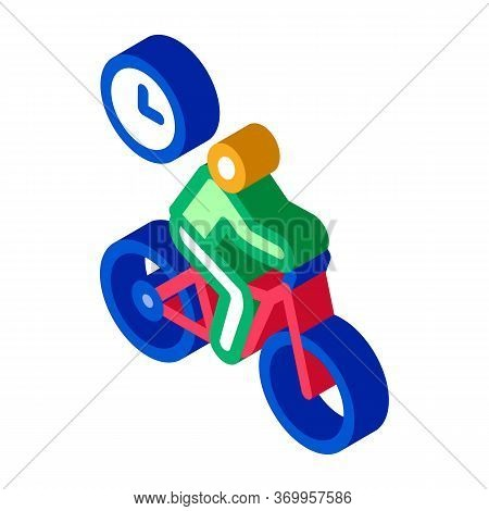 Limited Cycling Time Icon Vector. Isometric Limited Cycling Time Sign. Color Isolated Symbol Illustr