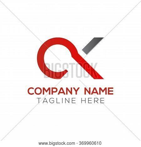 Initial Simple Letter Ok Logo Design Vector Template. Abstract Minimal Ok Letter Logo Design