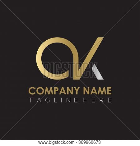 Initial Simple Letter Ok Logo Design Vector Template. Abstract Minimal Ok Letter Logo Design