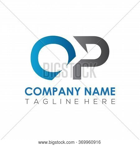Initial Simple Letter Op Logo Design Vector Template. Abstract Minimal Op Letter Logo Design