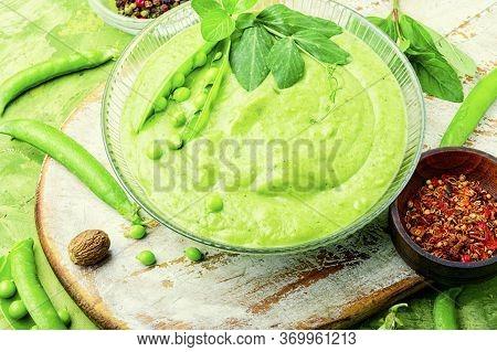 Pea Cream Soup.