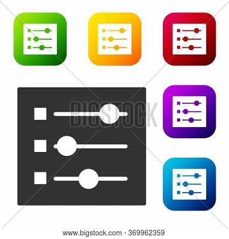 Black Car Settings Icon Isolated On White Background. Auto Mechanic Service. Repair Service Auto Mec