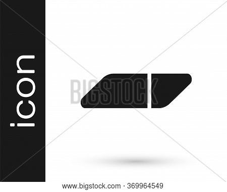 Grey Eraser Or Rubber Icon Isolated On White Background. Vector Illustration