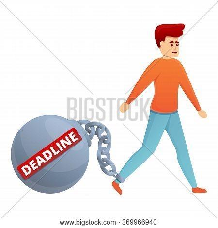 Burden Deadline Icon. Cartoon Of Burden Deadline Vector Icon For Web Design Isolated On White Backgr