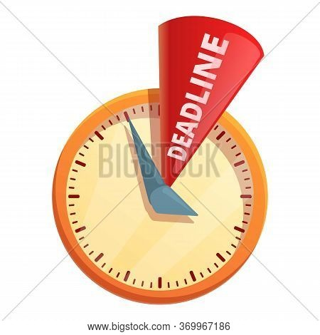 Deadline Time Icon. Cartoon Of Deadline Time Vector Icon For Web Design Isolated On White Background