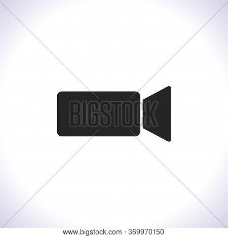 Camcorder Vector Icon . Lorem Ipsum Illustration Design