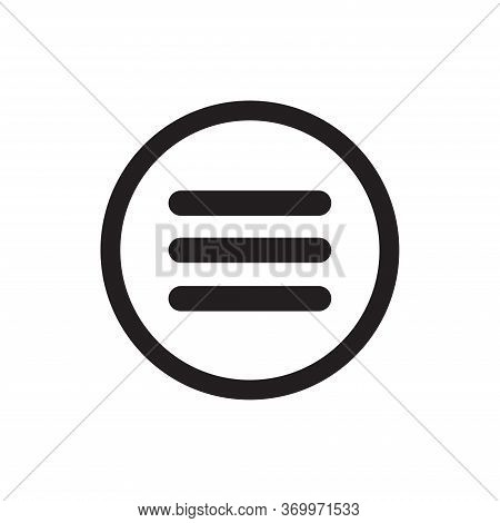 Menu Icon Isolated On White Background. Menu Icon In Trendy Design Style For Web Site And Mobile App
