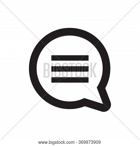 Comment Icon Isolated On White Background. Comment Icon In Trendy Design Style For Web Site And Mobi
