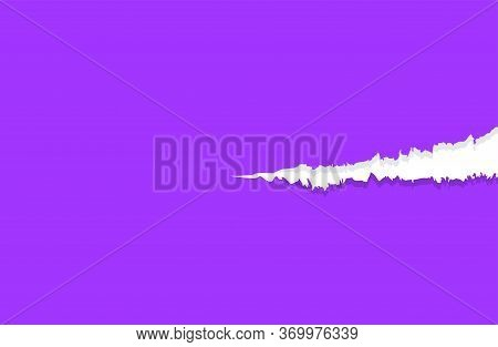 Paper Purple With Tear Marks, Paper Rip Torn Purple For Background, Paper With Edge Tear, Purple Not