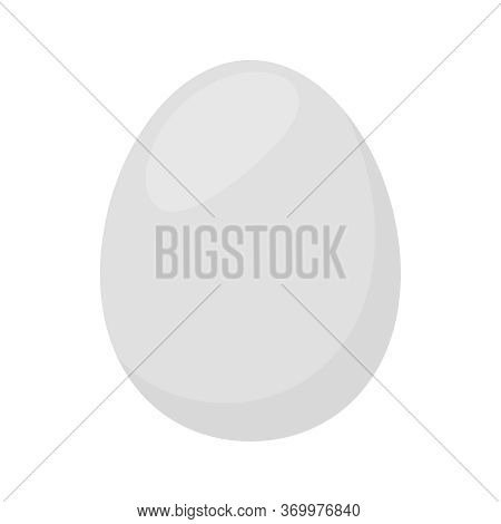 Duck Egg Isolated On White, Clip Art Duck Eggs White Grey Color, Illustrations Of Duck Egg