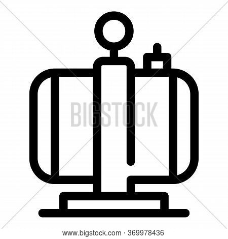 Garage Air Compressor Icon. Outline Garage Air Compressor Vector Icon For Web Design Isolated On Whi