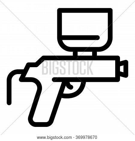 Air Compressor Gun Icon. Outline Air Compressor Gun Vector Icon For Web Design Isolated On White Bac