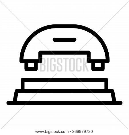 Puncher Front View Icon. Outline Puncher Front View Vector Icon For Web Design Isolated On White Bac