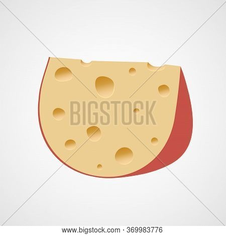 Parmesan Cheese Vector Illustration. Fresh Dairy Product. Cheese Icon
