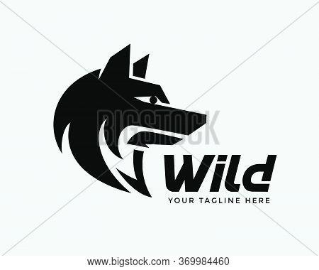 Black Head Wolf Modern Style Logo Design Inspiration