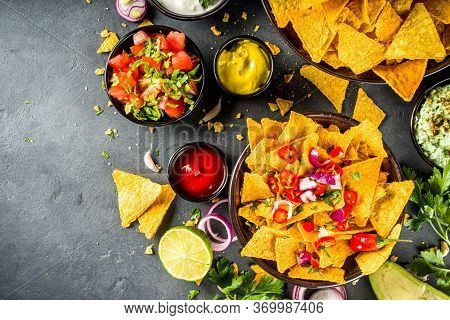 Nachos Chips With Dips