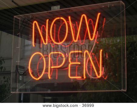 Flouro Open Sign