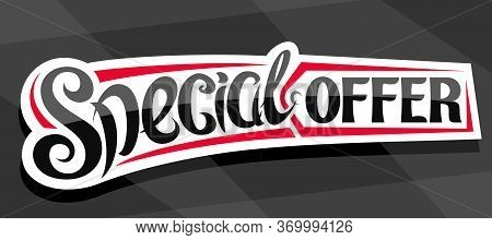 Vector Banner For Special Offer Sale, Decorative Cut Paper Pricetag For Black Friday Or Cyber Monday