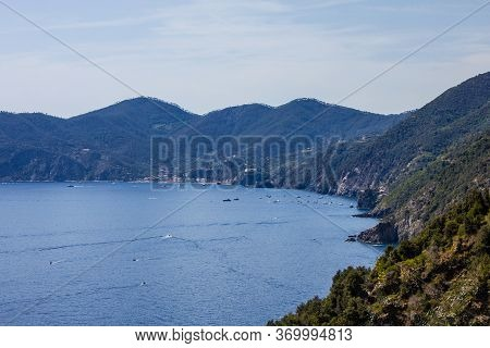 View From The Hiking Trail From Corniglia To Vernazza, Cinque Terre