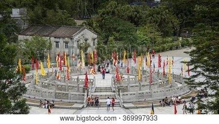 Gnong Ping, Lantau Island, Hong Kong, May 2018 - View Of The Ngong Ping Village On Lantau Island, Ho