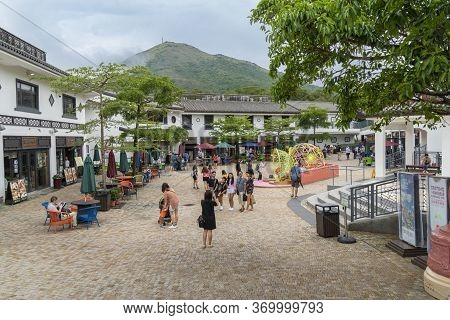 Ngong Ping, Lantau, Hong Kong, May 2018 - View Of The Ngong Ping Village On Lantau Island, Hong Kong
