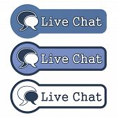 "Website Element: ""Live Chat"" on White Background. poster"