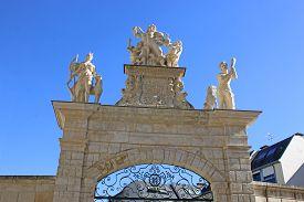 Gate In Fontenay Le Comte In France