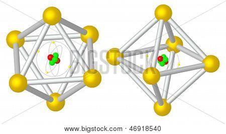 Render: Atom Caught In Metalic Cristal