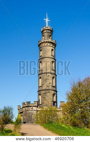 Nelson Monument In Edinburgh, Scotland