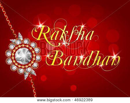 Indian festival Raksha Bandhan background with beautiful rakhi.