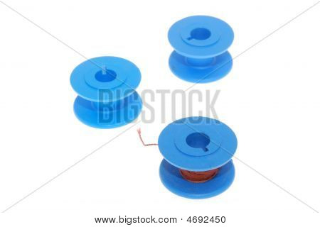 Blue Thread Spools