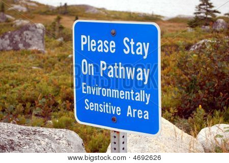 Sign -  Stay On Path