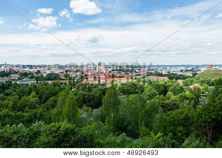 Panoramic view of Vilnius