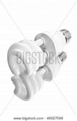 Modern Electric Bulb With Reflection