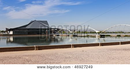 A Heron And The Tempe Center For The Arts