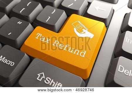 Keyboard with Tax Refund Button.