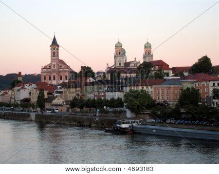 Passau At Dusk