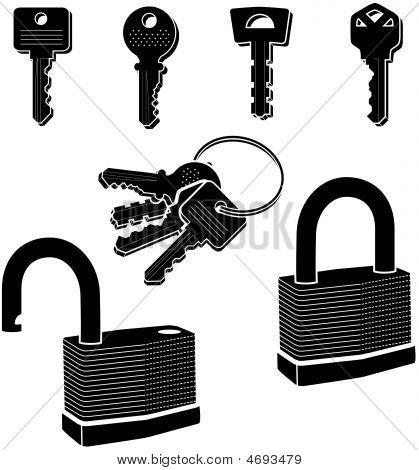 Key-lock-secure-safe