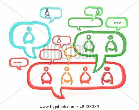 Network Is Working Via Gossip And Referral (3D)