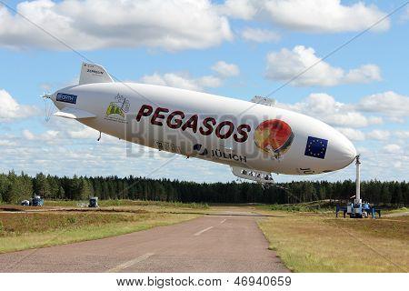 Pegasos Zeppelin NT In Jamijarvi Airport, Finland