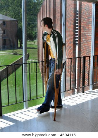 Crutches On Campus