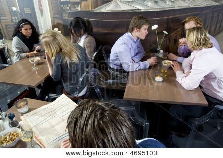 People In A Restaurant
