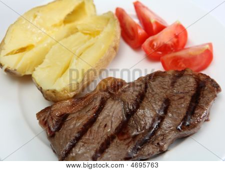 Grilled New York Steak With Veg